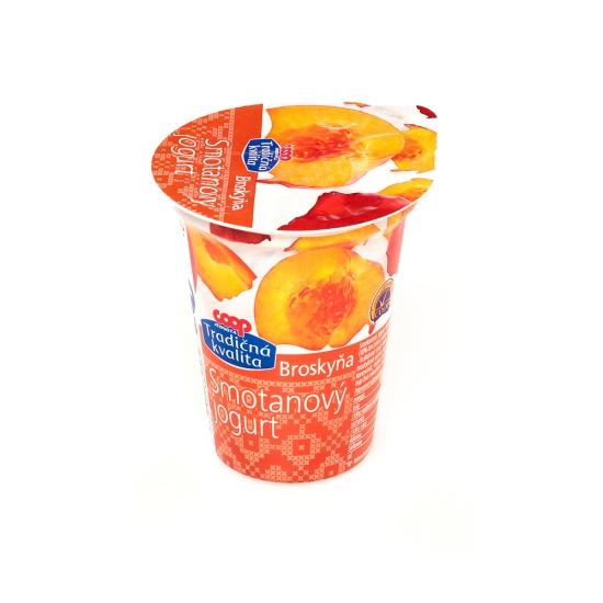 Smotanový jogurt broskyňa 150g