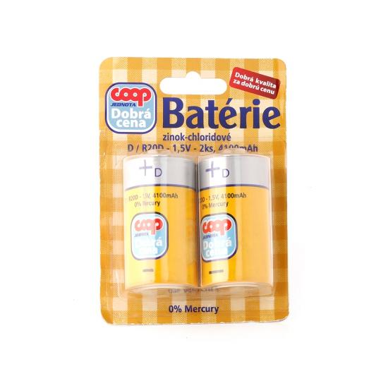 Batérie D/R20D-1,5V 2ks