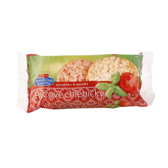 Chlebíčky ryžové paradajka+bazalka 25g