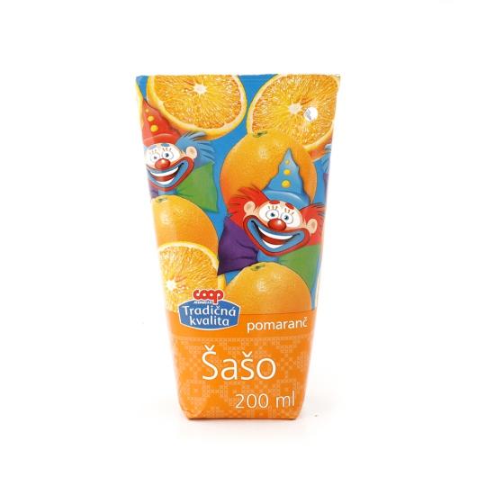 Šašo pomaranč 0,2L