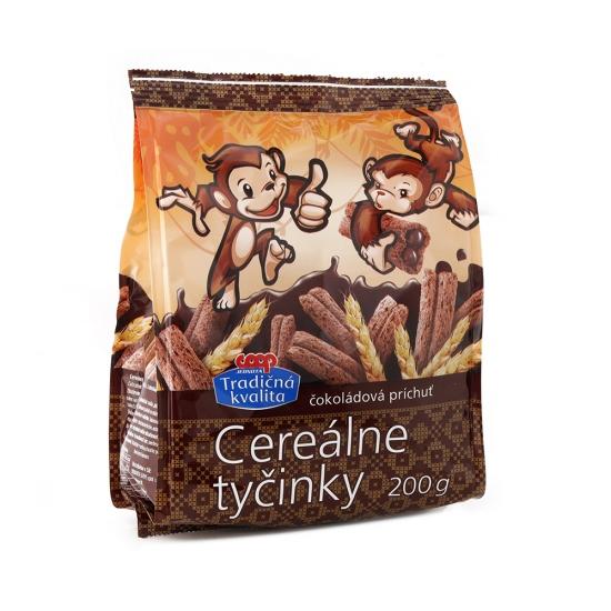 Tyčinky cereálne s čokoládovou náplňou 200g