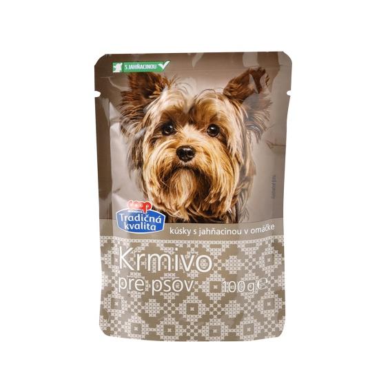 COOP Krmivo kúsky pre psov s jahňacinou 100g