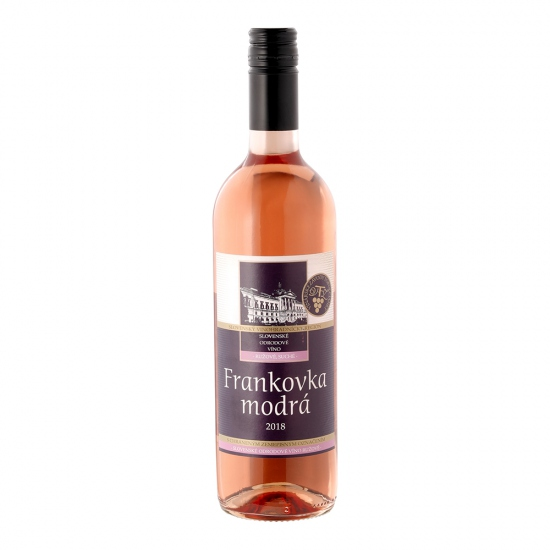 Frankovka modrá ružové suché víno 0,75l